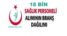 18 Bin Kişilik 4/B'li Sağlık Personelinin Branş Bazında Alım Listesi