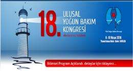 18.Ulusal Yoğun Bakım Kongresi