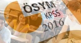 2016 KPSS Lisans Başvuruları Başladı