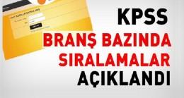 2016 KPSS branş bazında sıralama açıklandı