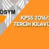 2016/2 KPSS Tercih Kılavuzu Yayımlandı
