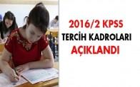2016/2 KPSS tercih Klavuzu Yayımlandı