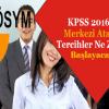 2016/2 KPSS tercihleri ne zaman yapılacak?