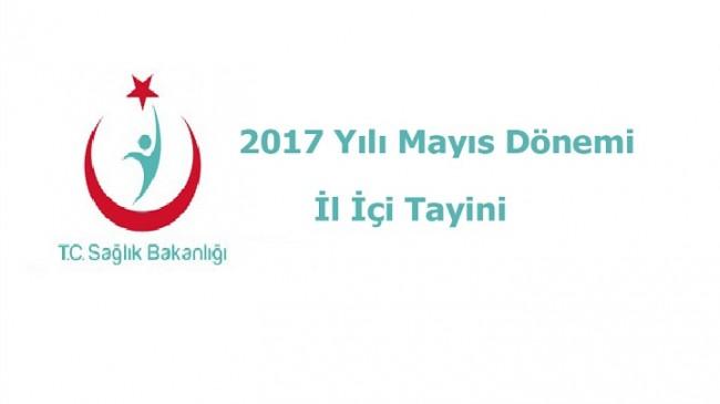 2017 Yılı Mayıs Dönemi İl İçi Yer Değişikliği Hakkında Duyuru