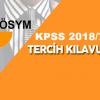 KPSS 2018/7 Sağlık Personeli Alımı Tercih Klavuzu Yayımlandı