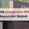 2018 KPSS ortaöğretim başvuruları başladı