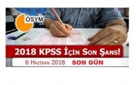 2018 KPSS'ye girecek adaylar dikkat!! Bugün son gün