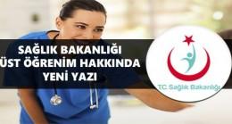 Sağlık Bakanlığı, Üst Öğrenim Sayacağı Bölümleri Açıkladı