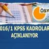 2016/1 KPSS merkezi atama kadroları açıklanıyor