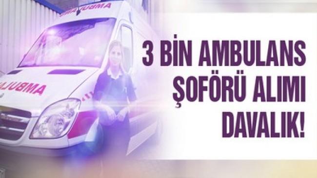 Taşeron Ambulans Şoförü Alımı Danıştaylık !
