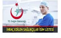 679 sayılı KHK ile İhraç ve İade Edilen Sağlıkçıların Listesi