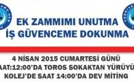 Türk sağlık sen:Kamu Çalışanları İçin Alanlardayız