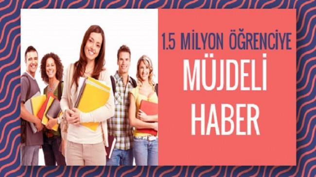 AÖF'ten 1.5 milyon öğrenciye müjde