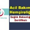 Acil Bakım Hemşireliği Sertifikalı Eğitim Programı ilanı