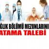 Ataması Bekleyen Sağlıkçılar Ankara'da Atama Taleplerini Dile Getirilecek