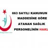 Sağlık Bakanlığı KPSS-2017/5 Atanan Sağlık Personelinin Hakları