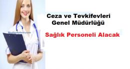 Ceza ve Tevkifevleri Genel Müdürlüğü Sağlık Personeli Alım İlanı
