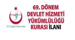 78.Dönem Devlet Hizmeti Yükümlülüğü Kurası İlanı