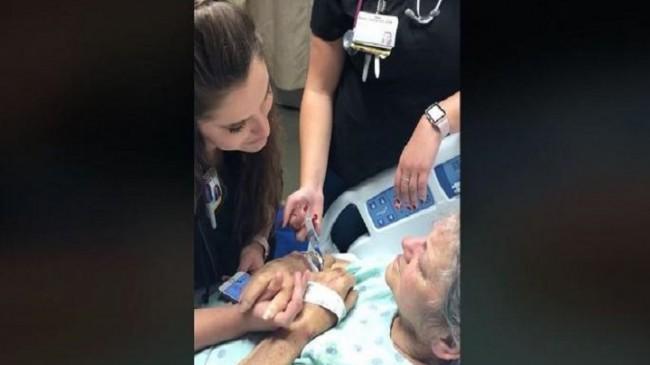 Hemşirenin hastaya ölmeden önceki son şarkısı ilgi odağı oldu