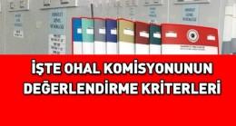 İşte OHAL Komisyonun Değerlendirme Kriterleri