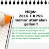 KPSS 2016/1 Atama Kontenjanları Ne Zaman Açıklanacak?