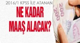 KPSS 2016/1 ile yerleşen sağlıkçılar ne kadar maaş alacak?