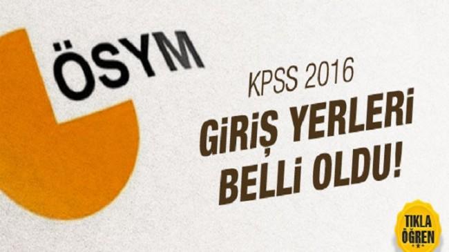 KPSS 2016 Sınav giriş yerleri belli oldu