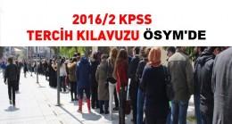 KPSS 2016/2 TERCİH KLAVUZU ÖSYM'DE