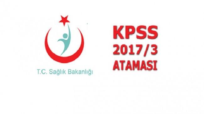KPSS-2017/3 Sağlık Personel Alımı Göreve Başlama Duyurusu