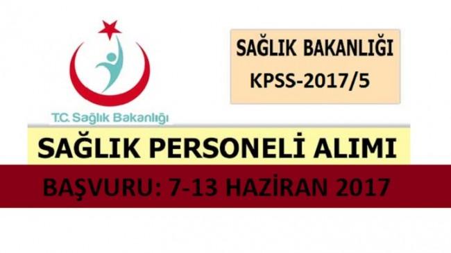 KPSS-2017/5 Sağlık bakanlığı 12.500 Sağlık Personeli Alım İlanı