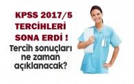 KPSS 2017/5 Tercih Sonuçları ?