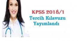 Son Dakika: KPSS 2018/1 Tercih Kılavuzu Yayımlandı