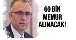 Maliye Bakanı Naci Ağbal: 60 bin memur alınacak
