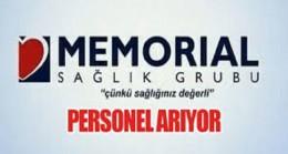 Memorial Sağlık Grubu Çeşitli branşlarda Sağlık personeli alacak