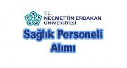 Necmettin Erbakan Üniversitesi Sağlık Personeli Alım ilanı