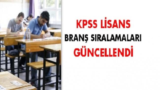 ÖSYM, KPSS lisans branş sıralamalarını güncelledi