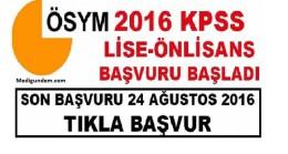 Önlisans/Ortaöğretim 2016 KPSS başvuruları başladı