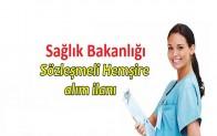 Sağlık Bakanlığı 2 Bin 400 Sözleşmeli Hemşire Alım İlanı