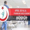 Sağlık bakanlığı KPSS 201/6 Tercih sonuçlarında puanlar kaça düştü?