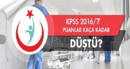 Sağlık bakanlığı KPSS 2016/7 Tercih sonuçlarında puanlar kaça düştü?
