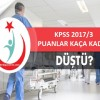 Sağlık bakanlığı KPSS 2017/3 sonuçlarında puanlar kaça düştü?
