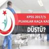 Sağlık bakanlığı KPSS 2017/5 sonuçlarında puanlar kaça düştü?