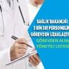 Sağlıkta görevden alınan yönetici listesi?