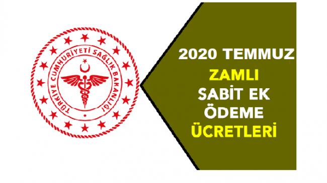 Temmuz 2020 Sağlık Personeli Sabit Ek Ödeme Miktarları