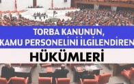 Torba yasa tasarısında memurları ilgilendiren hükümler