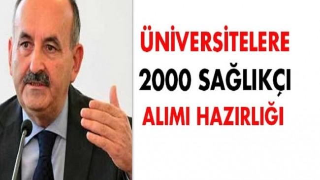 Üniversitelere 2000 Sağlık Personeli Alımı Yapılacak