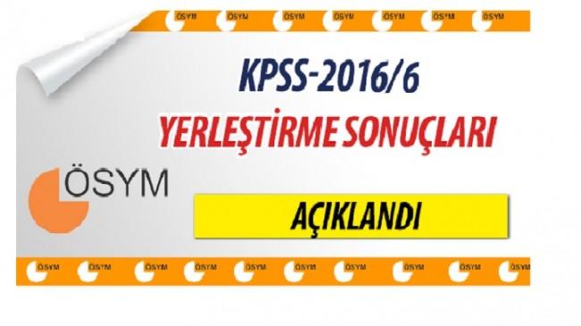 Sağlık bakanlığı KPSS 2016/6 Tercih sonuçları açıklandı