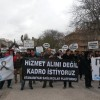 Atanamayan sağlık çalışanları Sağlık Bakanlığı önünde eylem yaptı