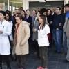 Sağlık çalışanlarına şiddet protesto edildi
