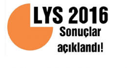2016-LYS Sonuçları açıklandı